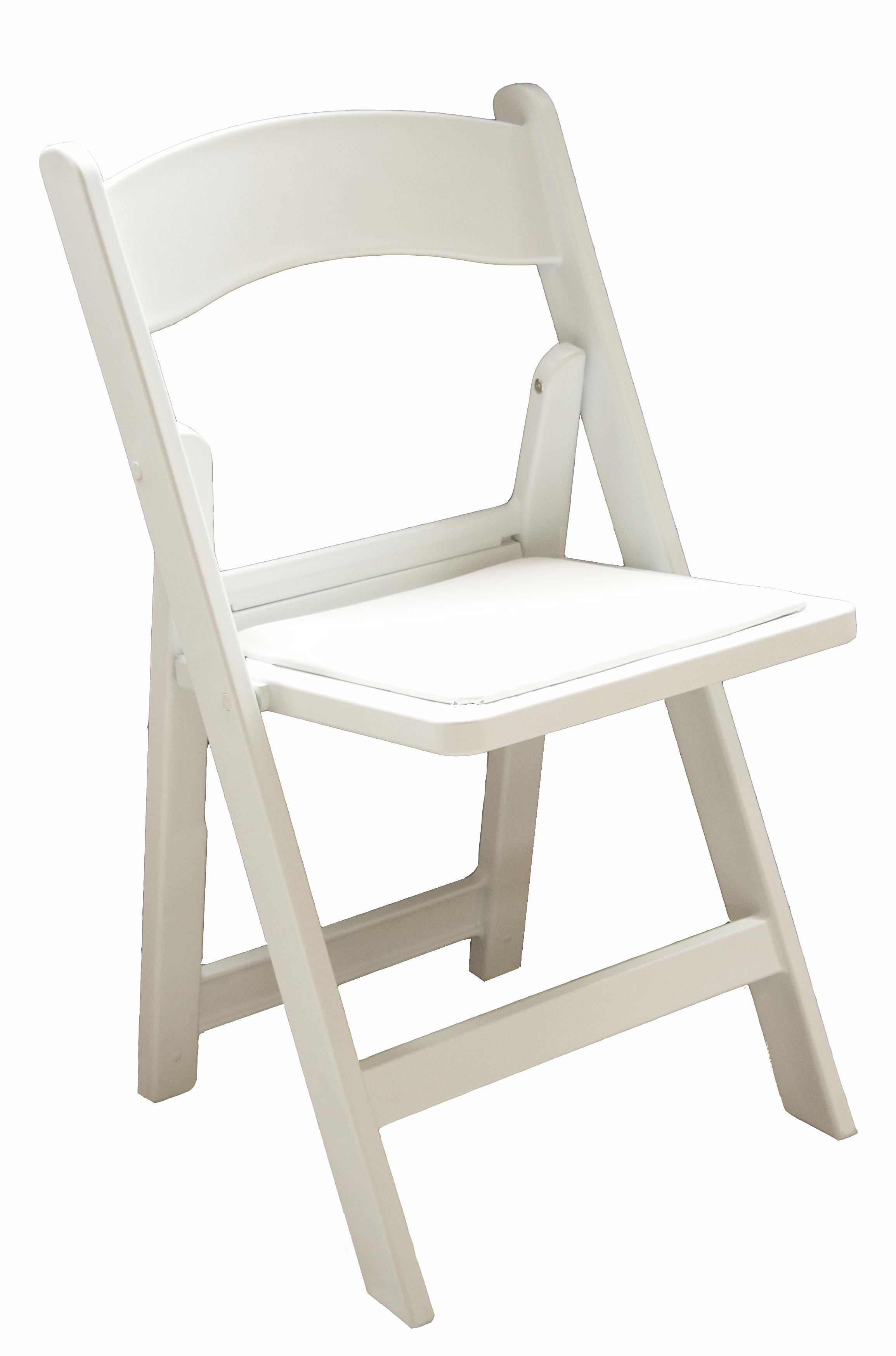 wedding chair klapstoel wit leren zitting Party en